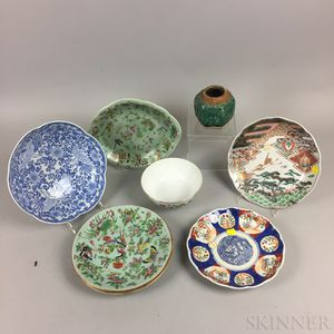 Eight Asian Ceramic Items