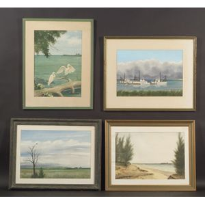 Marvin Potts (American, 20th Century)    Lot of Four Florida Views