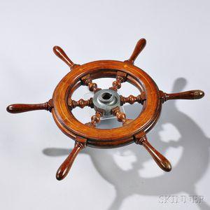 Small Mahogany Inlaid Helm