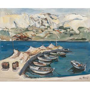 Branko Becic (Croatian, 1923-2000)    Two Harbor Views