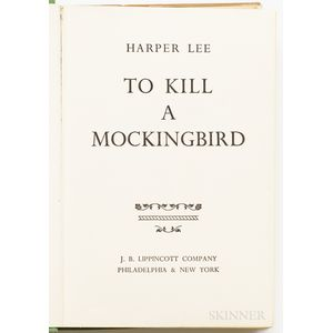Lee, Harper (1926-2016) To Kill a Mockingbird.