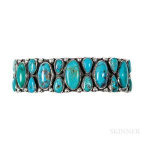 Southwest Silver Turquoise Bracelet