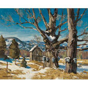 T.M. Nicholas (American, b. 1963)      Tapping Maple Trees
