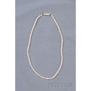 Edwardian Pearl and Diamond Necklace, Tiffany & Co.