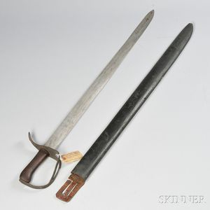 Iron-hilt Sword and Wooden Scabbard