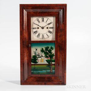 Henry Terry Miniature Mahogany Ogee Shelf Clock