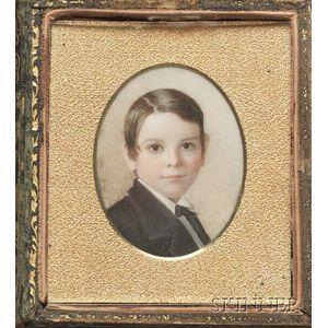 Portrait Miniature of a Boy in a Book-form Case