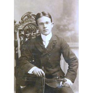 Six Framed Cabinet Cards, c. 1890-1910