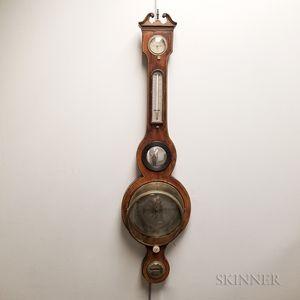 J. Gilardi Georgian-style Mahogany Wheel Barometer