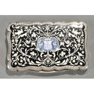 Continental Silver and Enamel Snuff Box