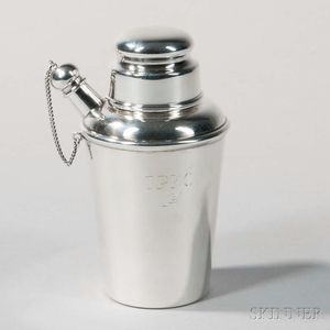 Cartier Sterling Silver Trophy Cocktail Shaker
