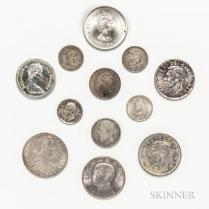 Twelve Silver World Coins