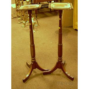Pair of Regency-style Mahogany Plant Stands.