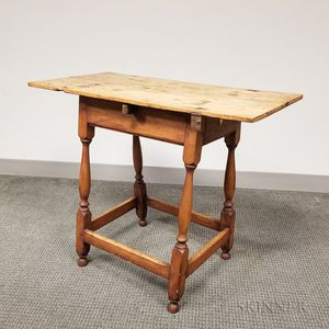 Country Maple Stretcher-base Tavern Table