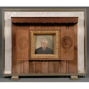 Attributed to Vivian Milner Akers (Maine, 1886-1966)      Portrait of Chief Justice of the Supreme Court Earl Warren (1891–1974).