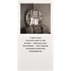 Carrie Mae Weems (American, b. 1953)      Not Manet