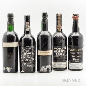 1963 Port, 5 bottles