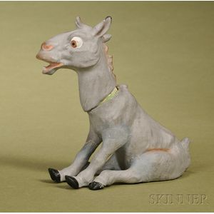 German Papier-mache Donkey Candy Container