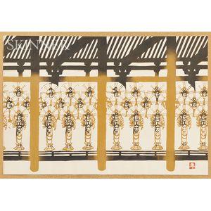 Mikumo (Nenjiro Inagaki, b. 1906) Woodblock Print