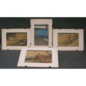 Four Prints by Hiroshige