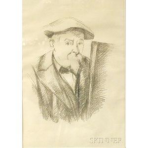 After Paul Cézanne (French, 1839-1906)      Self-Portrait.