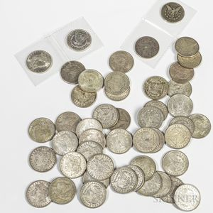 Forty-six Morgan Dollars and a 1922 Peace Dollar