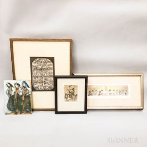 Four Small Figural Works