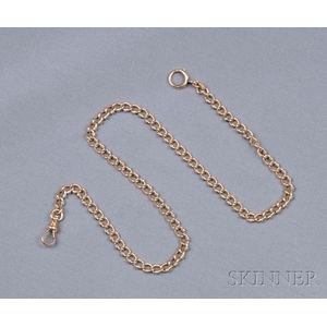 Antique 14kt Gold and Platinum Watch Chain