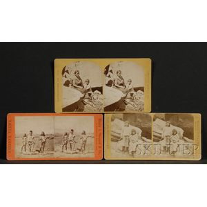 Three Early Stereo Views of The Expedition of 1873