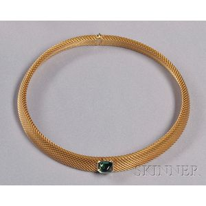 18kt Gold and Green Tourmaline Necklace, Tiffany & Co.