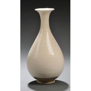 White Glazed Cizhou Yuhuchun Vase