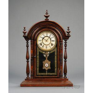 "Rosewood ""Parepa, V.P."" Shelf Clock by E. N. Welch"