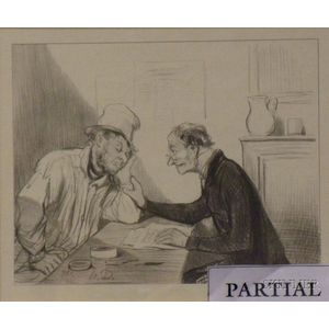 Lot of Four Halftone Prints After Honore Daumier