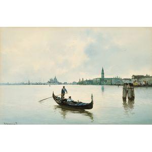 Alberto Prosdocimi (Italian, 1852-1925)      Panorama of Venice