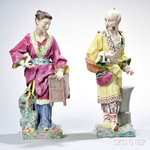 Pair of Continental Porcelain Figures