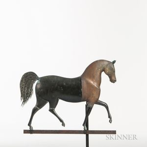 Cast Zinc and Molded Sheet Copper Horse Weathervane