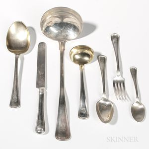 "Gorham ""Old French"" Pattern Sterling Silver Flatware Service"