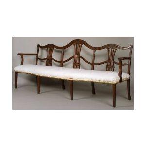 George III Style Mahogany Triple-chairback Settee