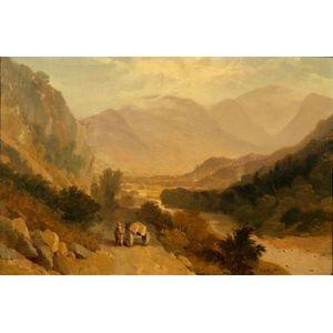 James Baker Pyne (British, 1800-1870)    The Stone Mason