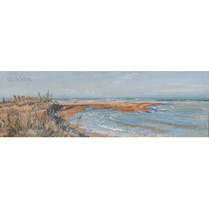 Eugene Benson (American, 1839-1908)      On the Pisan Coast