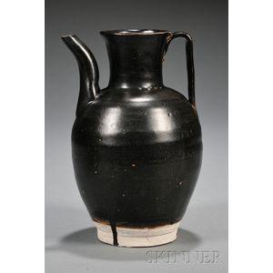 Henan Black Glazed Ewer