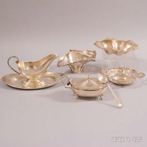Seven Pieces of Assorted Sterling Silver Tableware