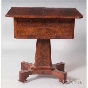 Classical Mahogany and Flame Mahogany Veneer Work Table