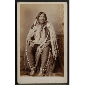 Boudoir Card of a Jicarilla Apache from New Mexico