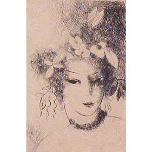Marie Laurencin (French, 1883-1956)  Jeune Fille Couonnee de Fleurs