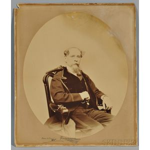 Dickens, Charles (1812-1870) Photograph Signed, Boston, 6 March 1868.