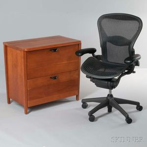 Herman Miller File Cabinet and Aeron Chair