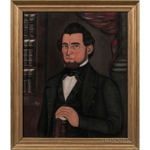 Attributed to H.K. Goodman (American, 19th Century)      Portrait of Ananias Mowry