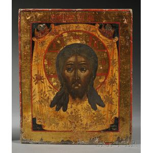 "Russian Icon Depicting ""The Image Not Made by Hands,"""