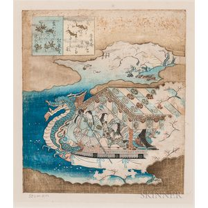 Surimono   Woodblock Print